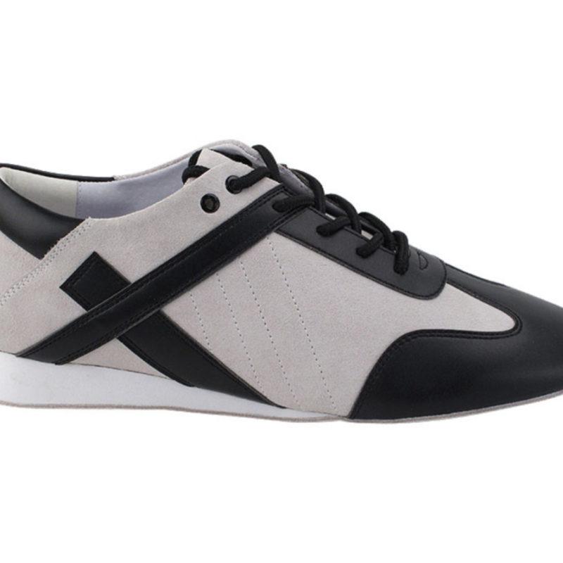 Zapato de baile -DAMA SHOES - Bosa White Suede & Leather