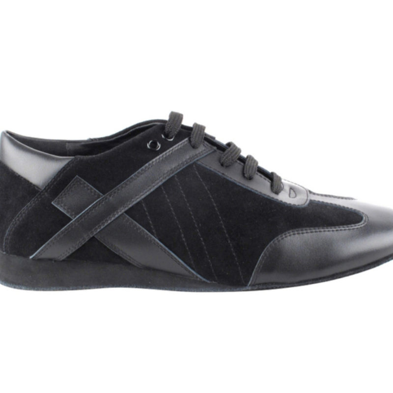 Zapato de baile -DAMA SHOES- Bosa Black Leather & Suede