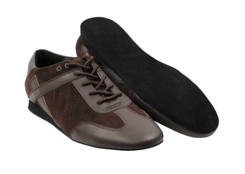 Zapato de baile- DAMA SHOES - Bosa Brown Leather & Suede
