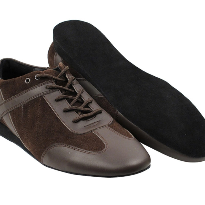 Zapato de baile- DAMA SHOES - Bosa Brown Leather & Suede