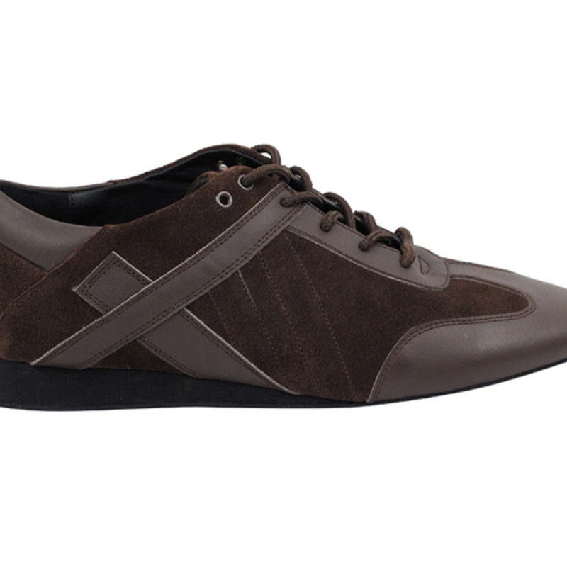 Zapato de baile- DAMA SHOES- Bosa Brown Leather & Suede