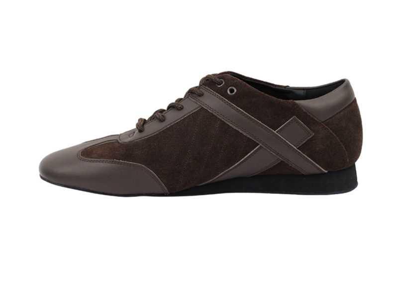 Zapato de baile- DAMA SHOES- Bosa Brown Leather & Suede
