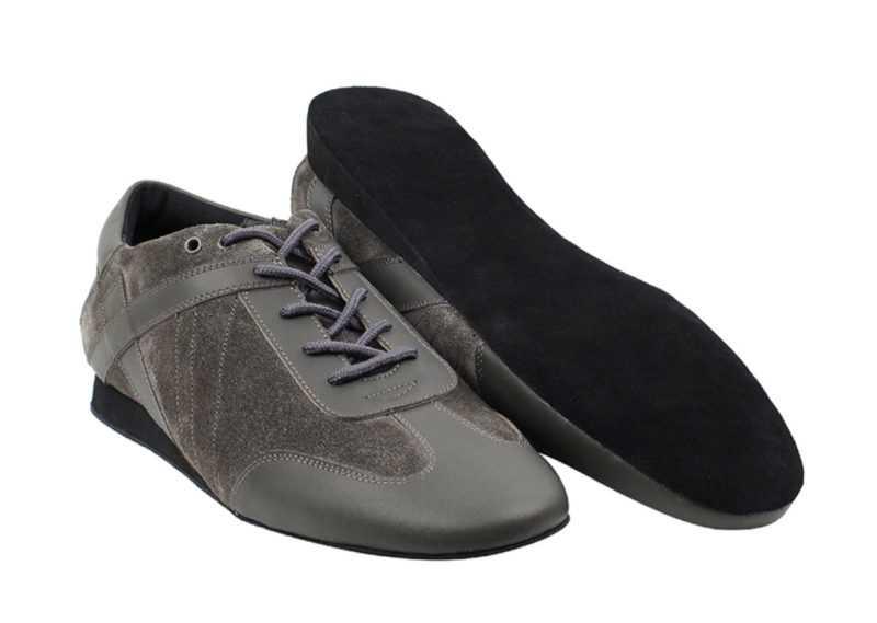 Zapato de baile -DAMA SHOES- Bosa Grey Leather & Suede