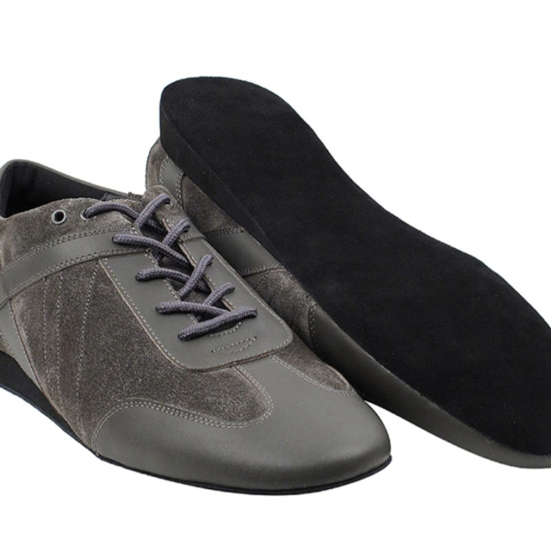 Zapato de baile -DAMA SHOES- Bosa Grey Leather & Suede