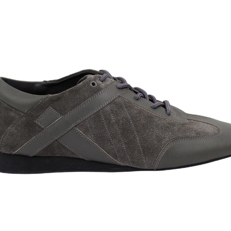 Zapato de baile- DAMA SHOES- Bosa Grey Leather & Suede