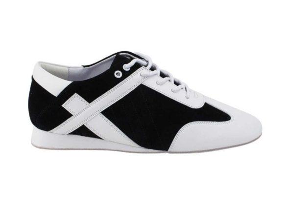 Zapato de baile- DAMA SHOES- Bosa Black Suede & Leather