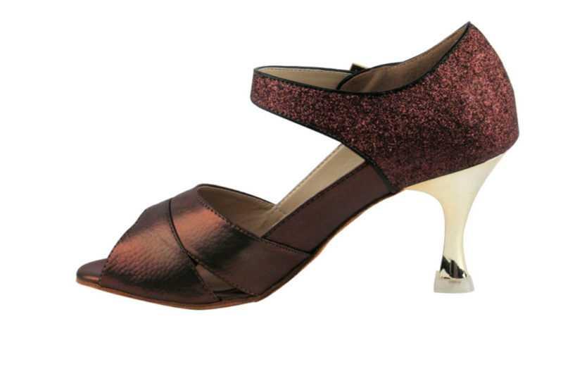 Zapato de baile- DAMA SHOES-Magui Dark Leather and Glitter