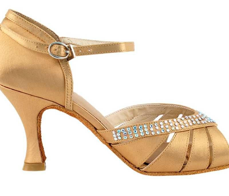 Zapato de baile -DAMA SHOES- Jaspe Flesh Satin