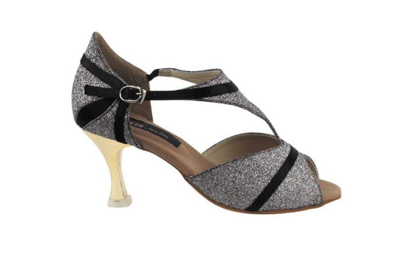 Zapato de baile - DAMA SHOES- Macy Black Satin