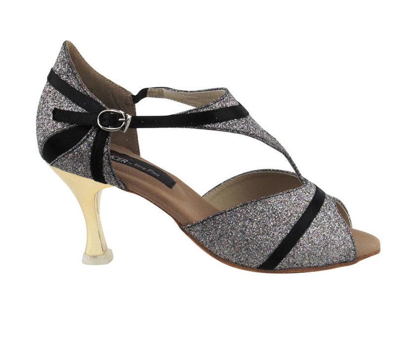 Zapato de baile - DAMA SHOES- Macy Black Satin