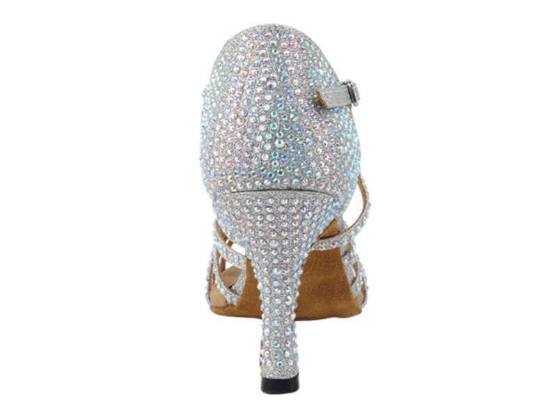 Zapato de baile -DAMA SHOES-Tiffany Silver Glitter Satin
