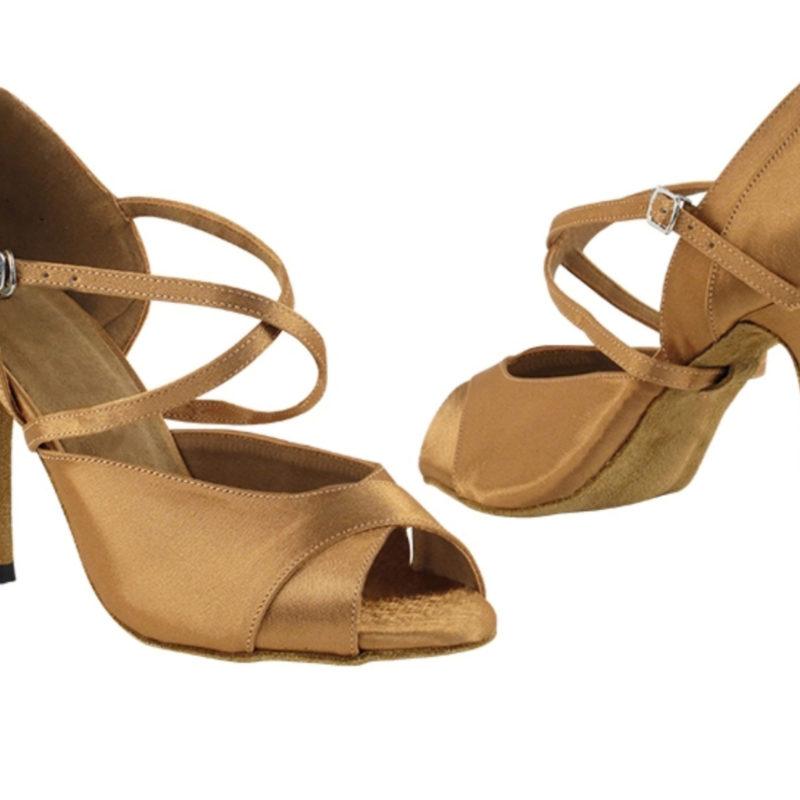 Zapato de baile -DAMA SHOES-Carina Brown Satin
