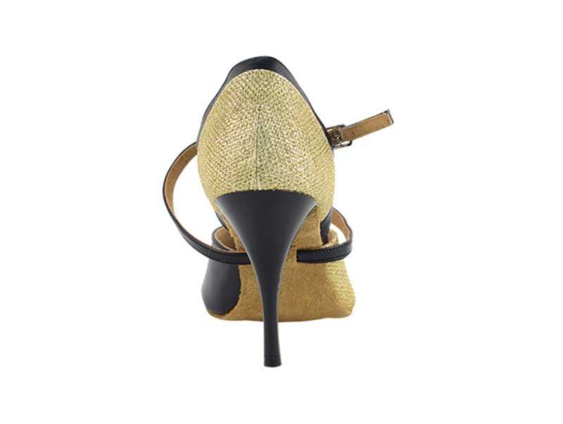 Zapato de baile -DAMA SHOES-Carina Gold Glitter Satin