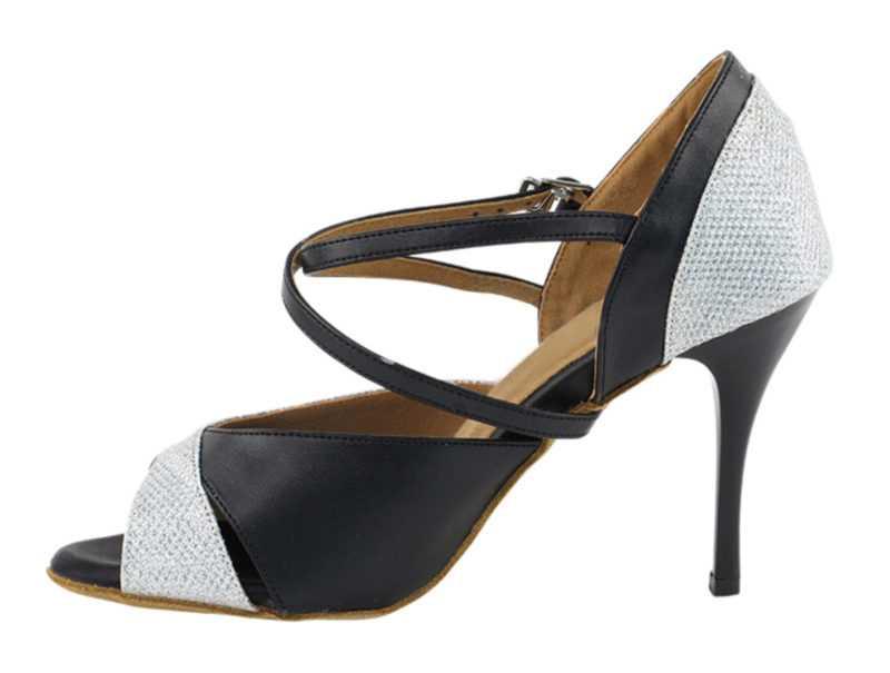 Zapato de baile -DAMA SHOES-Carina Silver Glitter Satin