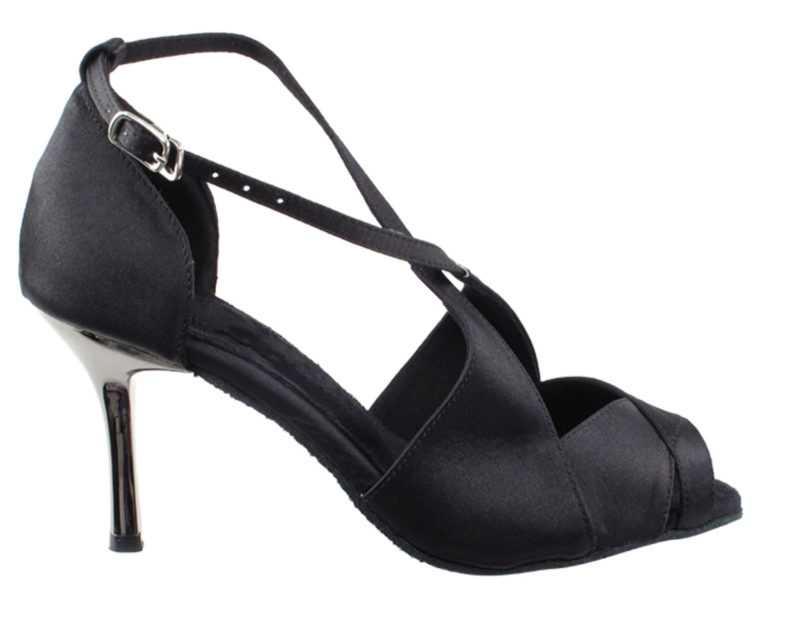 Zapato de baile -DAMA SHOES-Indigo Black Satin