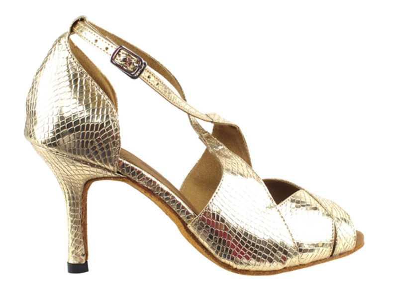 Zapato de baile -DAMA SHOES-Indigo Gold Snake