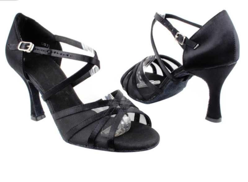 Zapato de baile -DAMA SHOES-Jael Black Satin