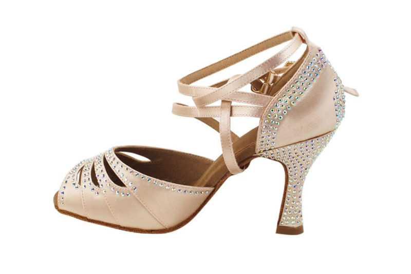 Zapato de baile- DAMA SHOES - Zircon Flesh Satin