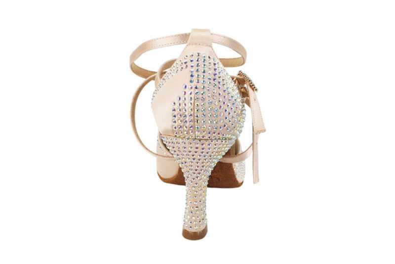 Zapato de baile- DAMA SHOES- Zircon Flesh Satin