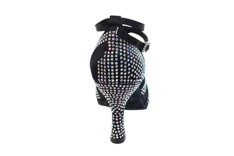 Zapato de baile -DAMA SHOES -Amatista Black Satin