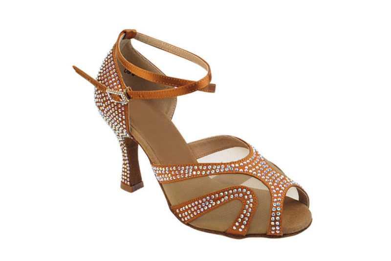 Zapato de baile -DAMA SHOES -Amatista Copper Tan Satin