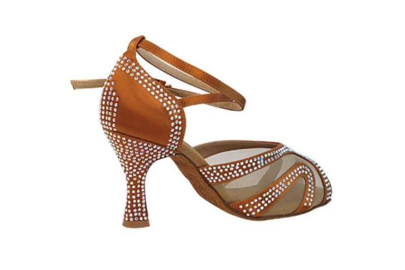 Zapato de baile -DAMA SHOES- Amatista Copper Tan Satin