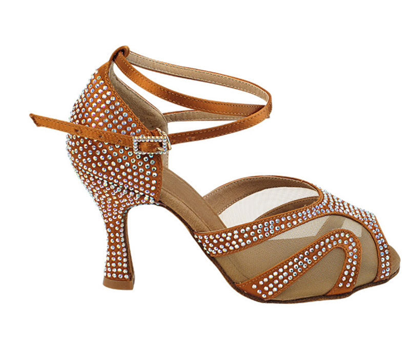 Zapato de baile -DAMA SHOES- Amatista Copper Tan Satin