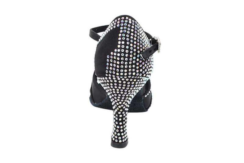 Zapato de baile -DAMA SHOES- Asscher Black Satin