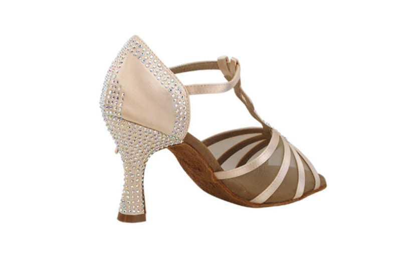 Zapato de baile -DAMA SHOES -Asscher Flesh Satin