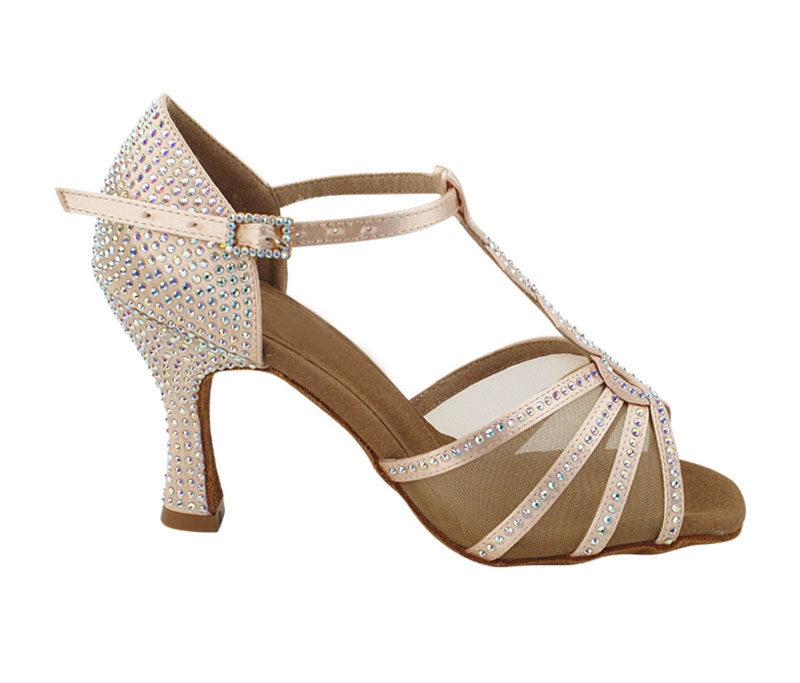 Zapato de baile -DAMA SHOES- Asscher Flesh Satin