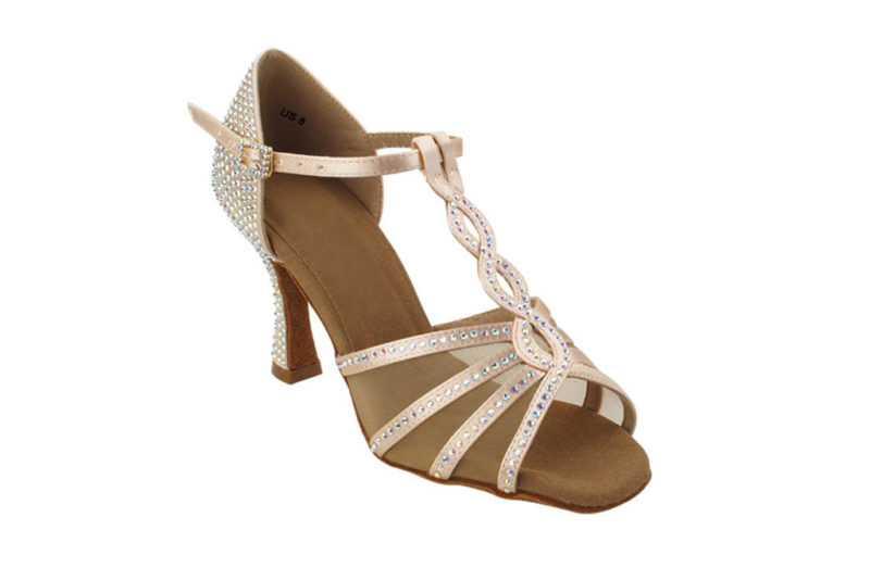 Zapato de baile-DAMA SHOES -Asscher Flesh Satin