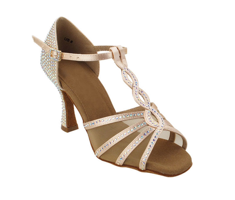 Zapato de baile-DAMA SHOES -Asscher Flesh Satin