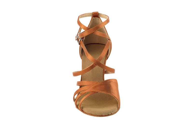 Zapato de baile- DAMA SHOES- Atenea Dark Tan Satin