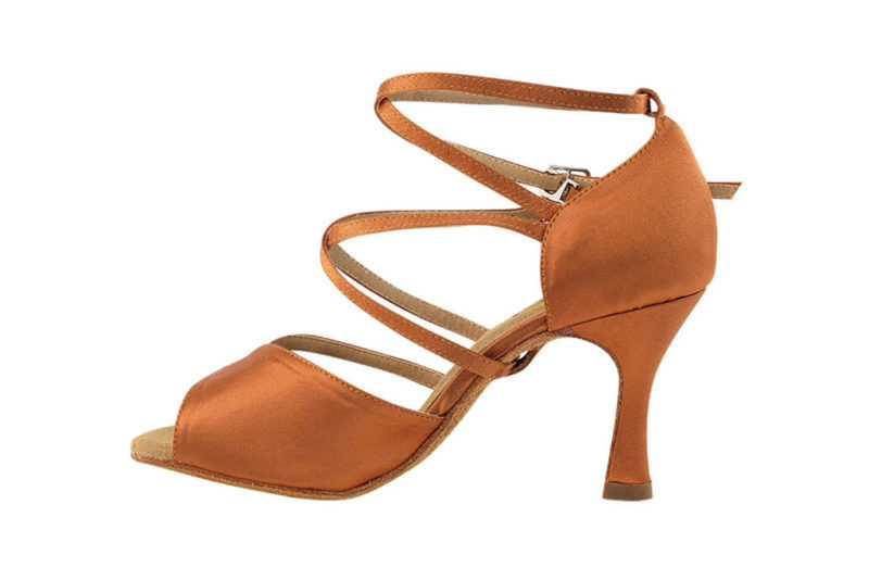 Zapato de baile - DAMA SHOES- Atenea Dark Tan Satin