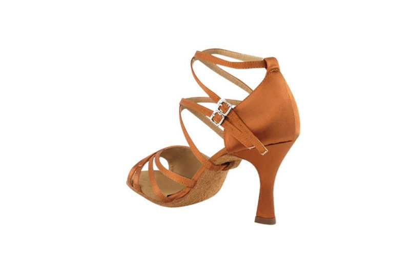 Zapato de baile -DAMA SHOES - Atenea Dark Tan Satin