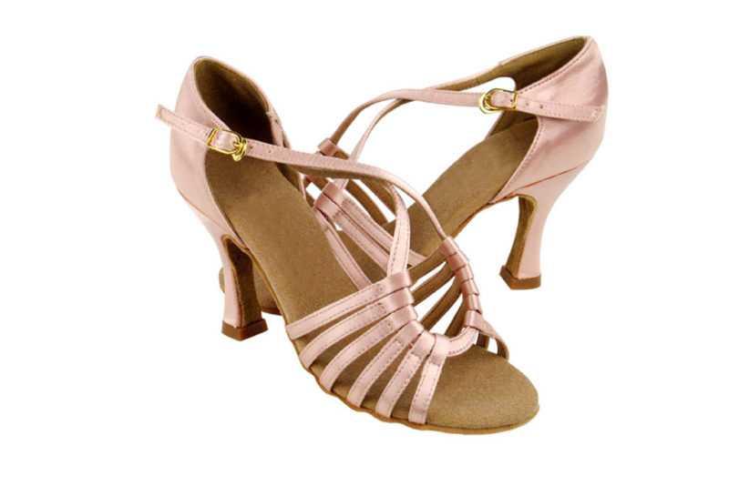 Zapato de baile -DAMA SHOES -Axa Tan Satin