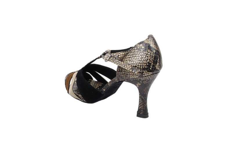 Zapato de baile-DAMA SHOES- British Brown Nubuck & Snake