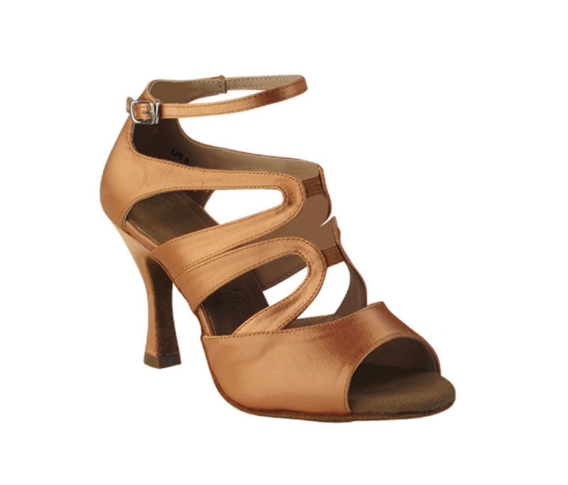 Zapato de baile - DAMA SHOES - Chelsea Tan Satin