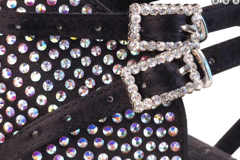 Zapato de baile- DAMA SHOES - Cornalina Black Satin
