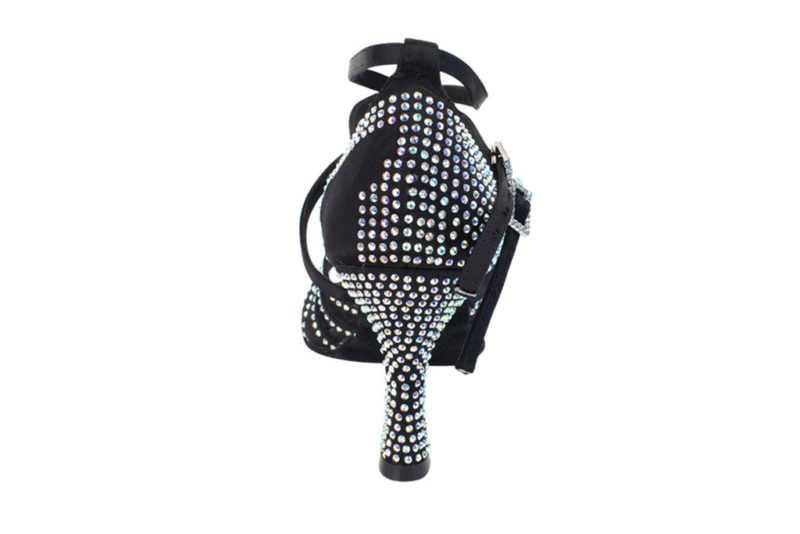 Zapato de baile- DAMA SHOES- Cornalina Black Satin