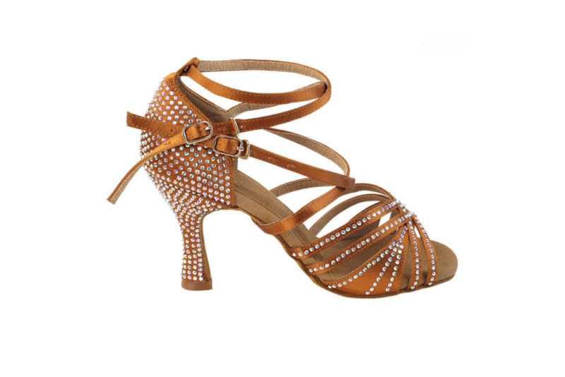 Zapato de baile -DAMA SHOES - Cornalina Copper Tan Satin