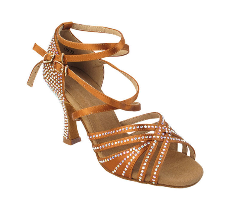 Zapato de baile -DAMA SHOES - Cornalina Copper Tan Satin
