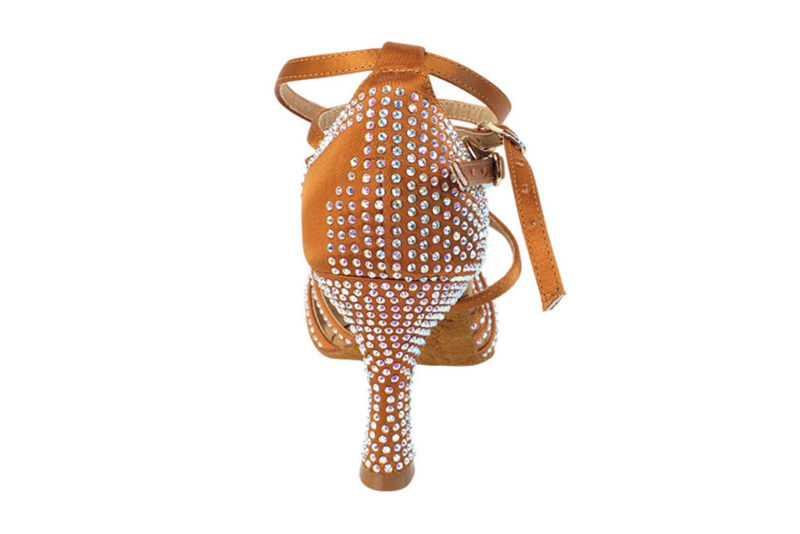 Zapato de baile -DAMA SHOES- Cornalina Copper Tan Satin