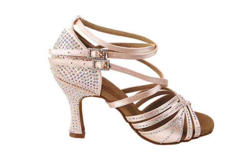 Zapato de baile -DAMA SHOES- Cornalina Flesh Satin