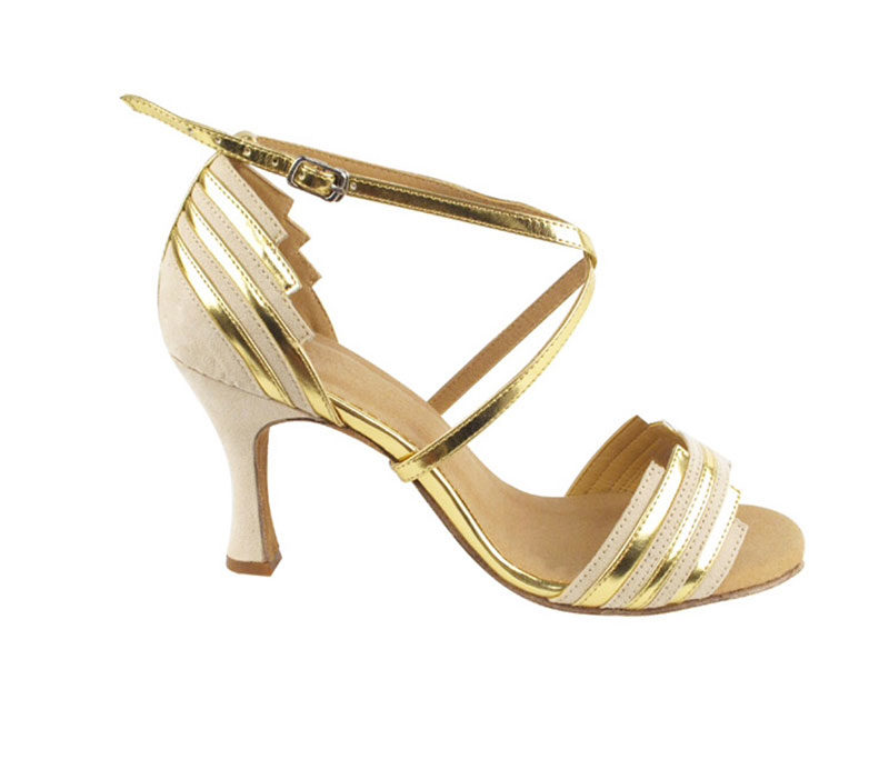 Zapato de baile - DAMA SHOES - Cosmic Beige & Gold