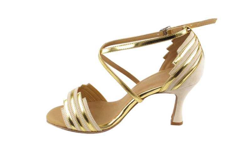Zapato de baile -DAMA SHOES - Cosmic Beige & Gold