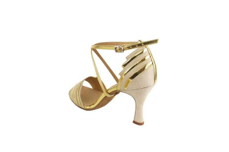 Zapato de baile - DAMA SHOES - Cosmic Beige &Gold