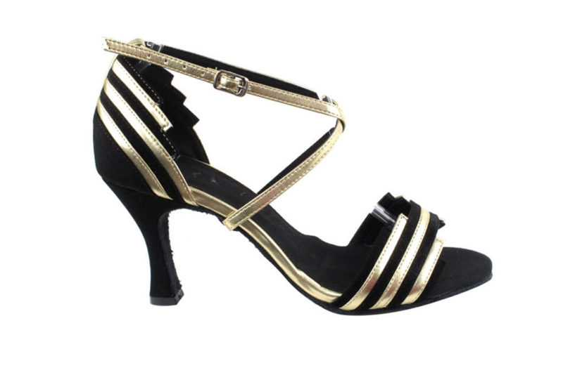 Zapato de baile - DAMA SHOES - Cosmic Black & Gold
