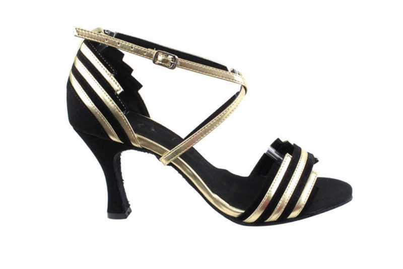 Zapato de baile - DAMA SHOES - Cosmic Black & Gold
