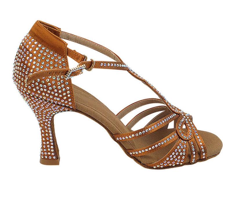 Zapato de baile-DAMA SHOES- Espinela Copper Tan Satin